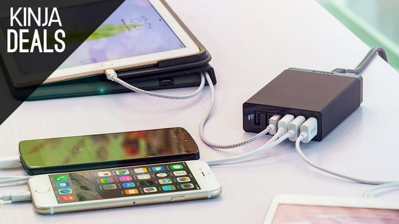 Illustration for article titled Keep Your Gadgets at 100% With These Charging Hub Deals