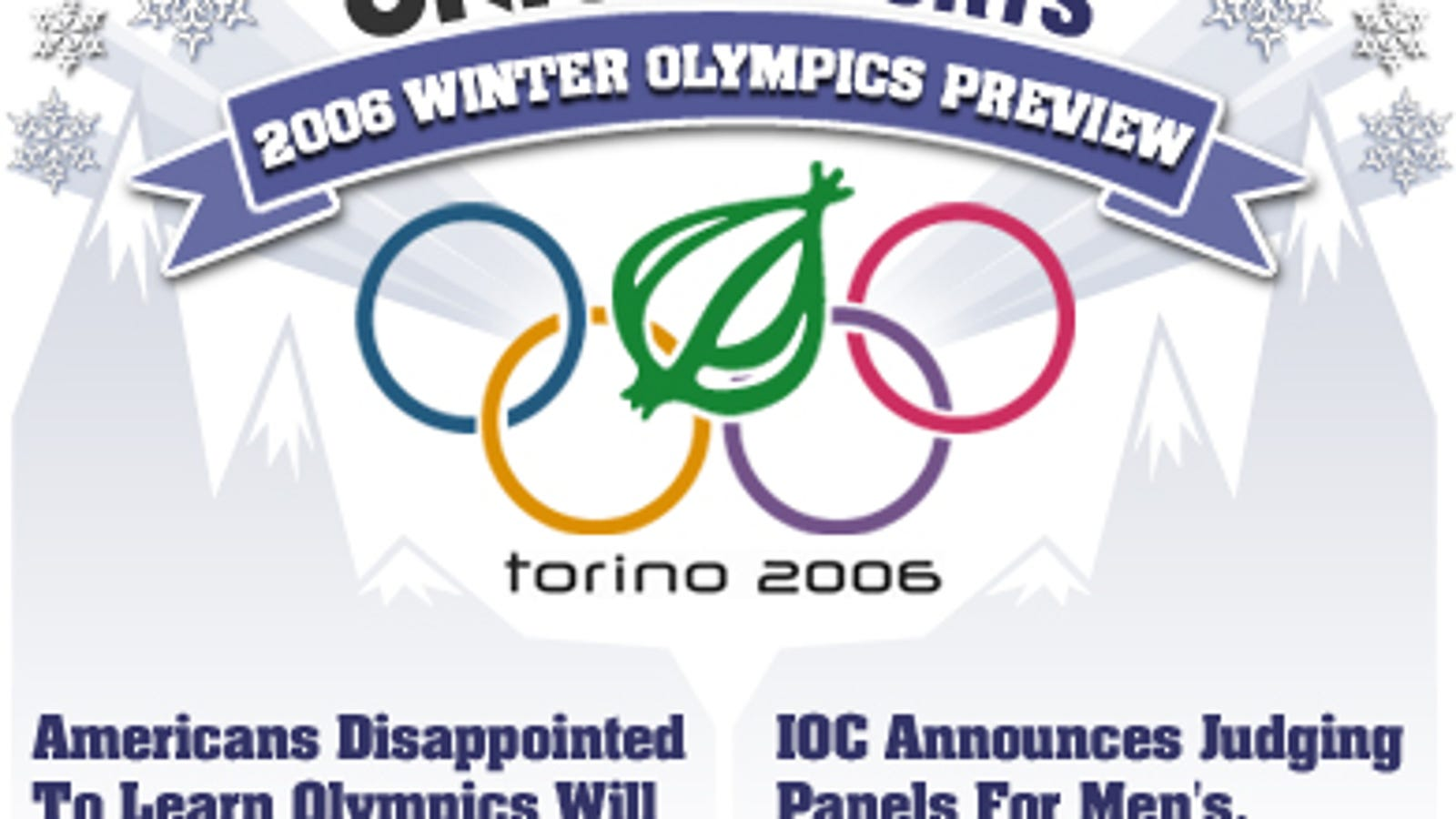 Onion Sports 2006 Winter Olympics Preview
