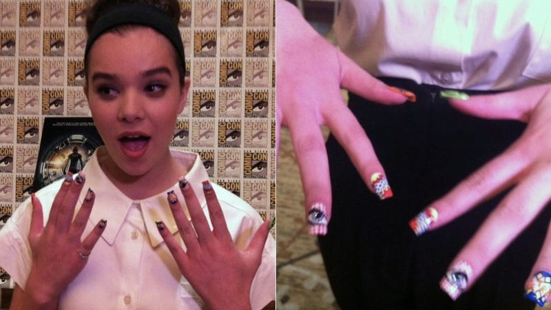 Illustration for article titled Hailee Steinfeld's nerdy nail art just made our day