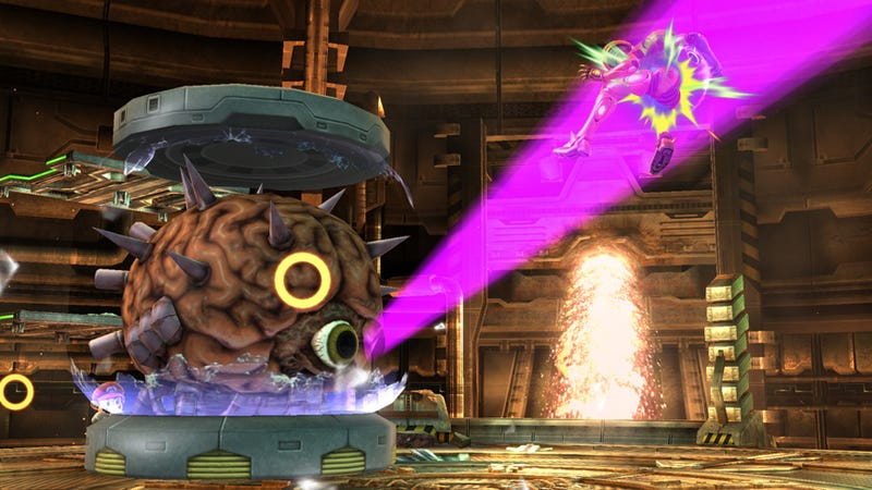 Illustration for article titled Mother Brain spotted in Smash Bros.!