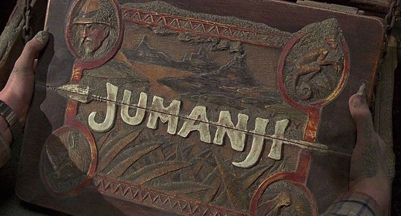 Illustration for article titled The First Jumanji Photo Is Here and Everyone Looks Like Characters in a Jungle Explorers Video Game