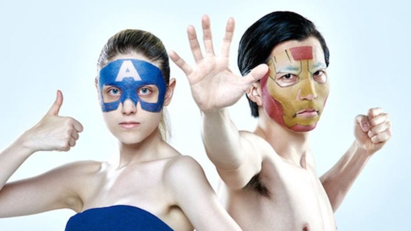 Japan combines fashion, health, and fandom with superhero skin care masks