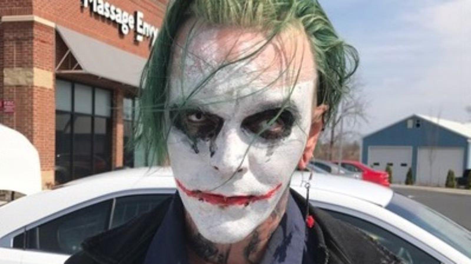 police arrest virginia man for wearing joker makeup in public