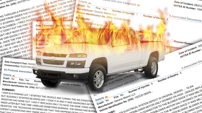 Why Hasn't GM Recalled These Two Trucks With A Similar Fiery