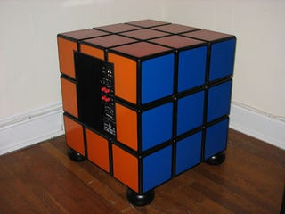 Illustration for article titled Build Your Own Rubik's Cube Subwoofer in 164 Easy Steps