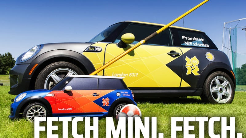Illustration for article titled Mini-er MINIs Driving All Over The 2012 Olympics