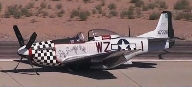 Illustration for article titled Watch This $2.2M P-51 Mustang Make A Gear-Up Belly Landing