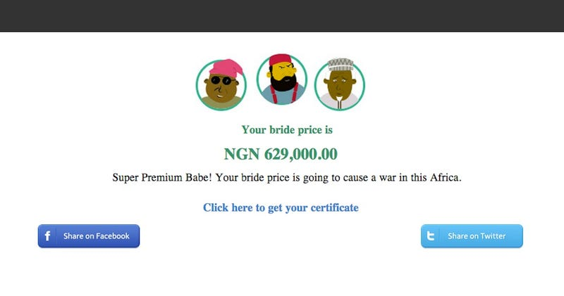 Illustration for article titled Need to Calculate Your Bride Price? There's an App for That