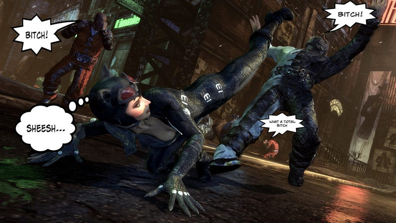 "Illustration for article titled Batman: Arkham City's Weird ""Bitch"" Fixation"