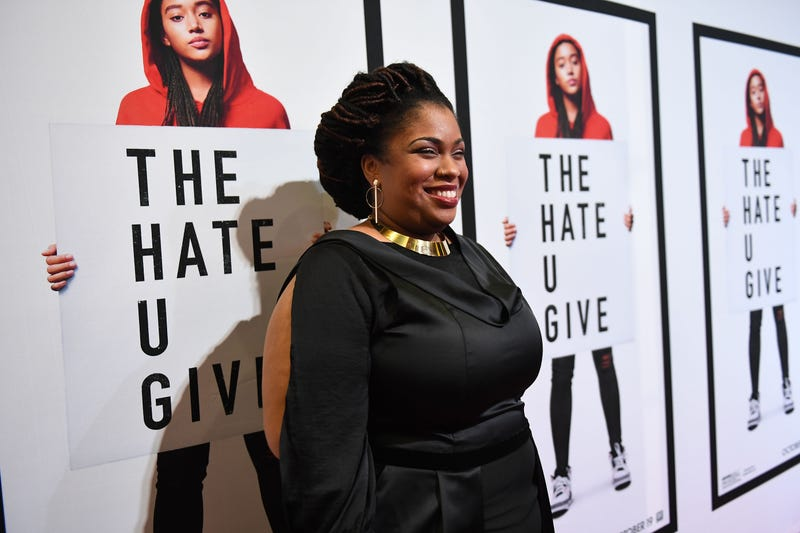 Author Angie Thomas attends 'The Hate U Give' Atlanta Red Carpet Screening at Regal Atlantic Station on Oct. 3, 2018, in Atlanta.