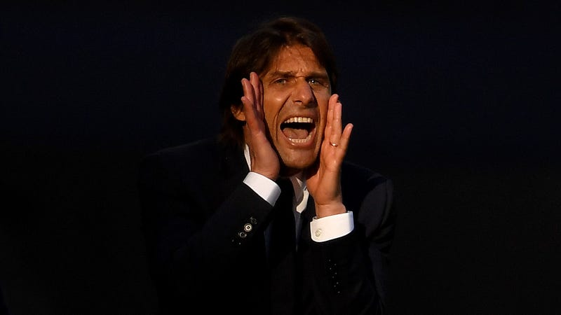 Antonio Conte at the FA Cup Final, or possibly screaming from the void.