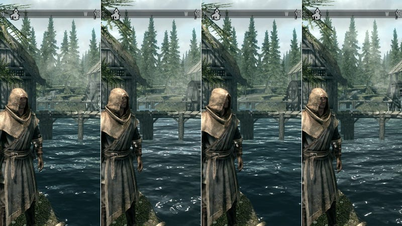 Illustration for article titled See The Differences Between Skyrim's Four PC Graphics Settings