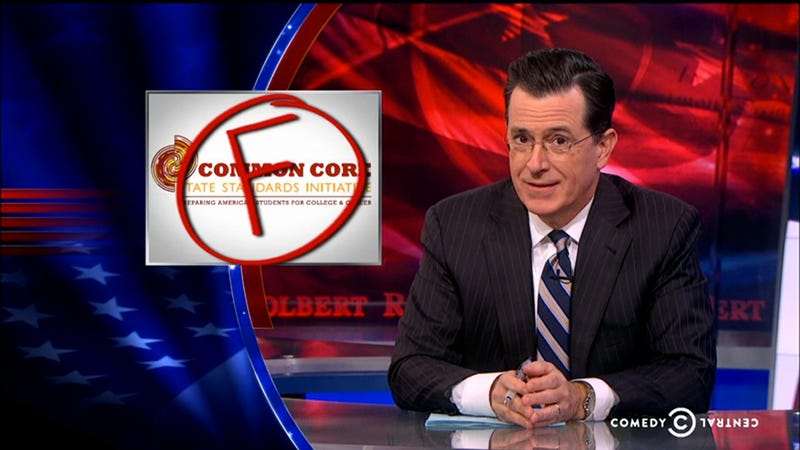 Illustration for article titled Stephen Colbert Bravely Defends the Useless Art of Cursive