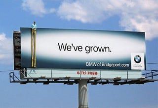 Illustration for article titled BMW Bridgeport Billboard: Advertising Photos