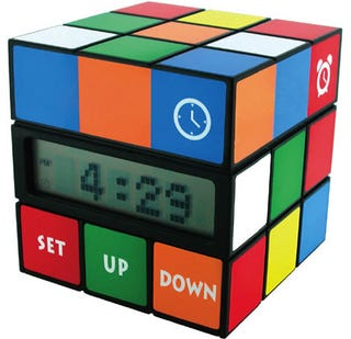 Illustration for article titled Rubiks Cube Alarm Clock Puts a Twist Into Telling Time
