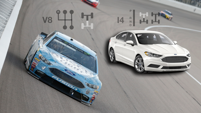 Here's How Modern NASCAR Race Cars Compare To Their Road-Going