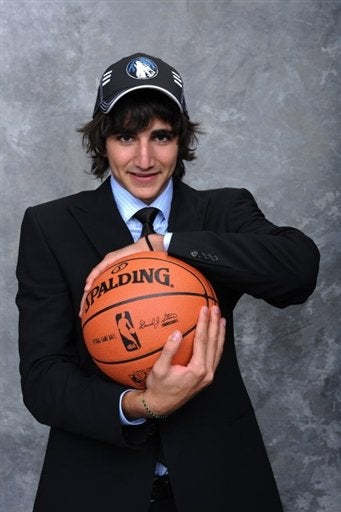Illustration for article titled Ricky Rubio Had A Miserable Draft Night, According To His (Platonic) Escort
