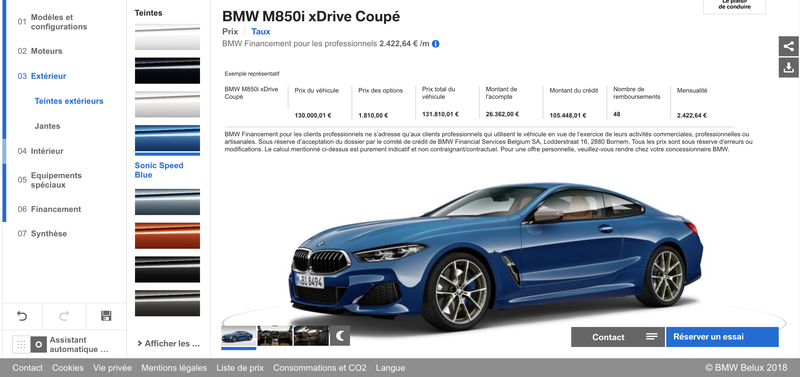 Illustration for article titled You Can Now Configure Your Dream Belgian-Market BMW 8 Series