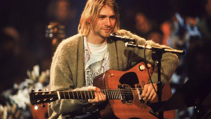 Illustration for article titled The war for Kurt Cobain's Unplugged guitar somehow gets even nastier