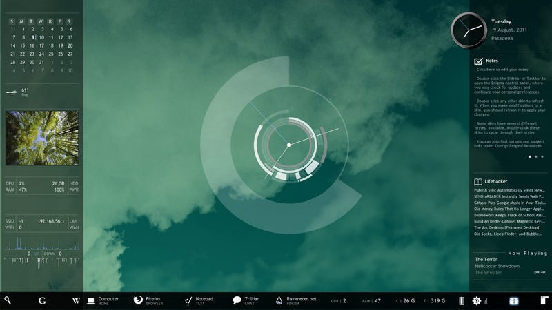 Illustration for article titled Rainmeter 2.1 Improves Now Playing Plugin for Quick Music Control, Simplifies Skin Management