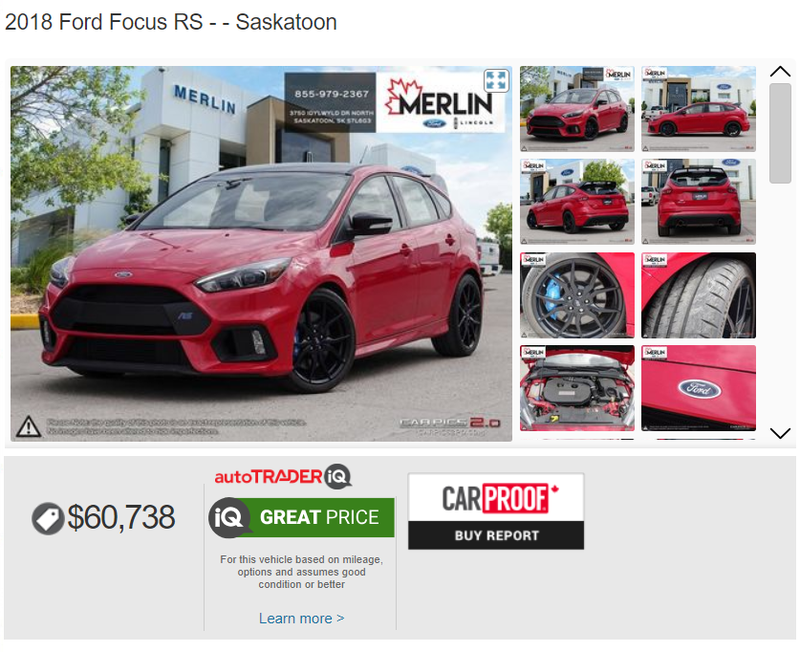 Illustration for article titled The Focus RS: or, maybe buy an STI and some mods