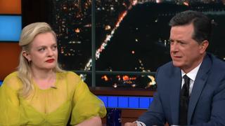 Elisabeth Moss, Stephen Colbert