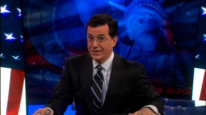 Illustration for article titled Researchers invent Stephen Colbert-inspired language to test theory that we'll write about it