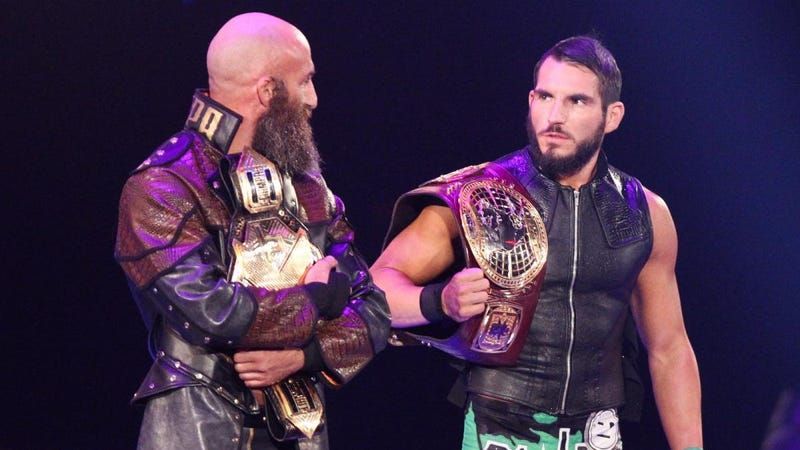 Tomasso Ciampa and Johnny Gargano don't look completely sure what they're doing on Raw.
