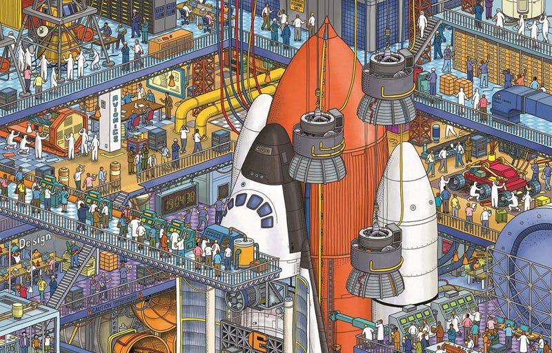 Illustration for article titled ¿Puedes encontrar a la única mujer trabajando en estas imágenes? Si tardas mucho es porque tenemos un problema