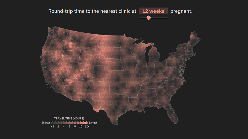 Illustration for article titled This Tool Shows How Far You Would Have to Drive to Reach Your Nearest Abortion Clinic