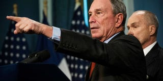 New York Mayor Michael Bloomberg and Police Commissioner Ray Kelly at a news conference (Andrew Burton/Getty Images)