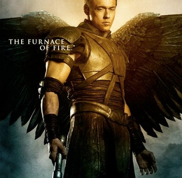 Illustration for article titled Watch God's Right Hand Angel Fight Paul Bettany, And His Badass Gun