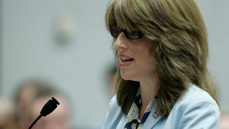 Shannon Lee Goessling testifying at a hearing in 2007.