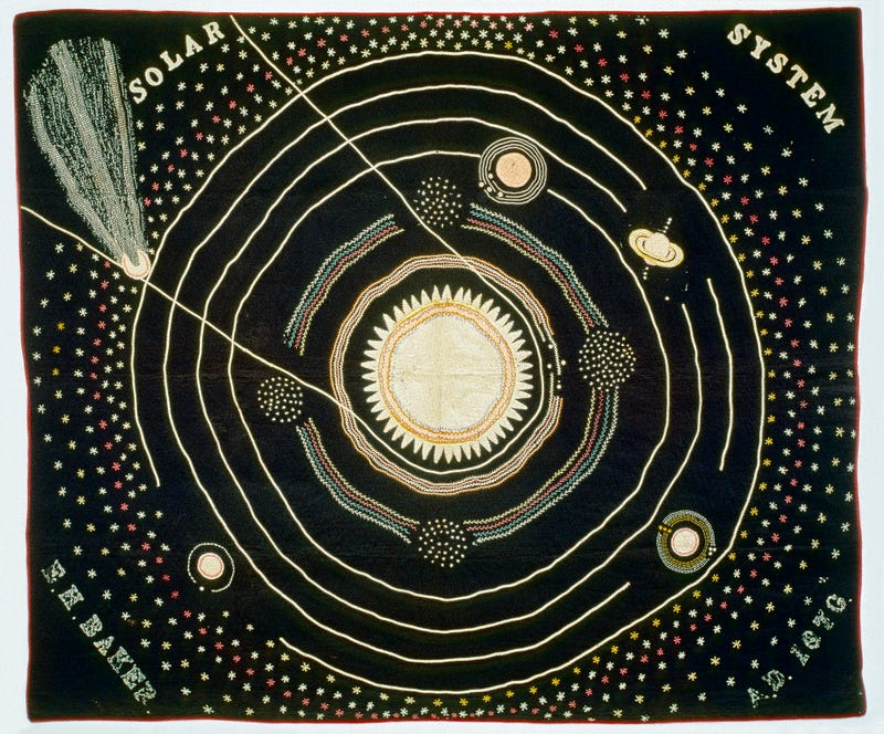 Illustration for article titled This Space Quilt Was Used To Illustrate 19th Century Astronomy Lectures