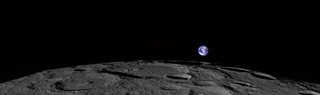 Illustration for article titled Rare view of Earth rising on the Moon taken by lunar orbiter