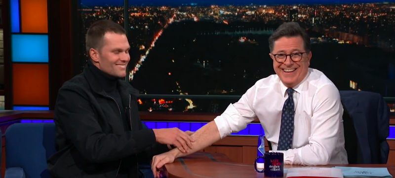 Tom Brady, Stephen Colbert