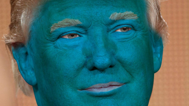 ... Donald Trump, would look like without his trademark orange spray tan