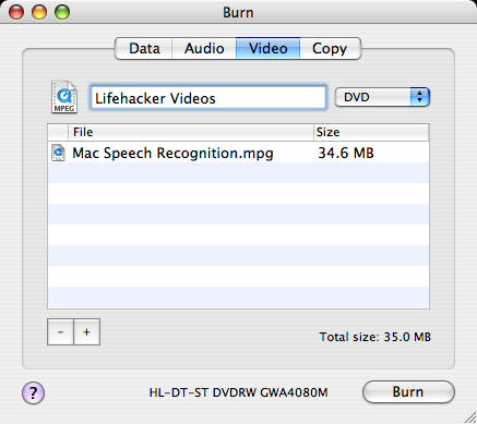 Download of the Day: Burn (Mac)