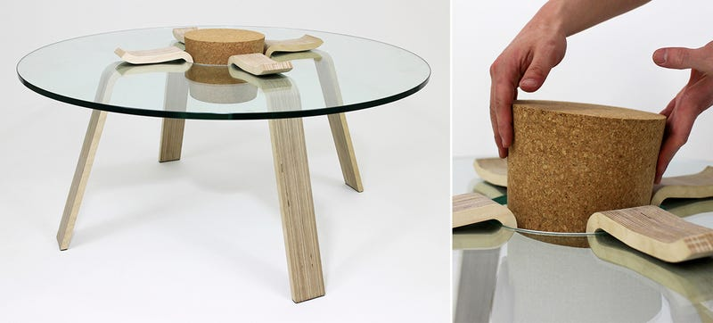 Illustration for article titled A Functional Cork Keeps This Coffee Table From Collapsing