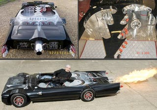 Illustration for article titled Jet-Powered Batmobile is the Flattest Car Ever