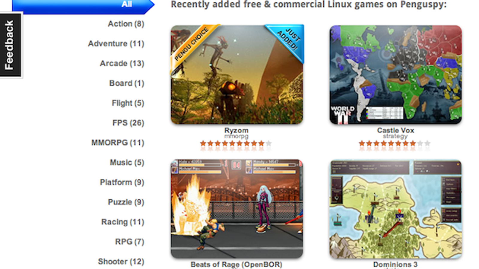 Penguspy is a Database Chock Full of Games for Linux