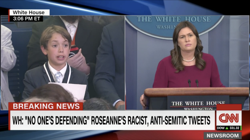 Illustration for article titled Sarah Sanders Chokes Up While Lying to a Child's Face About Gun Safety Reform