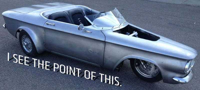Illustration for article titled This Corvair Trike Is A Cooler DeltaWing