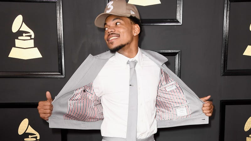 Chance the Rapper attends the 59th Grammy Awards at Staples Center on Feb. 12, 2017, in Los Angeles. (Frazer Harrison/Getty Images)