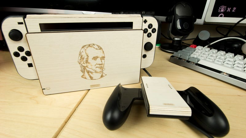 Wrapping My Nintendo Switch In Wood