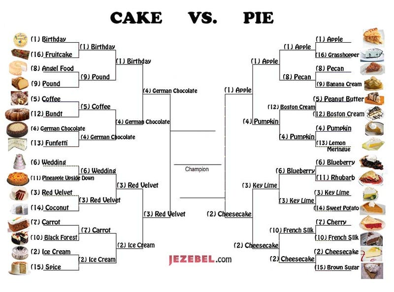 Illustration for article titled March Madness: The Final Four Of Pie/Cake