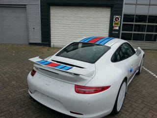 Illustration for article titled Martini Porsche Delivered in the Netherlands