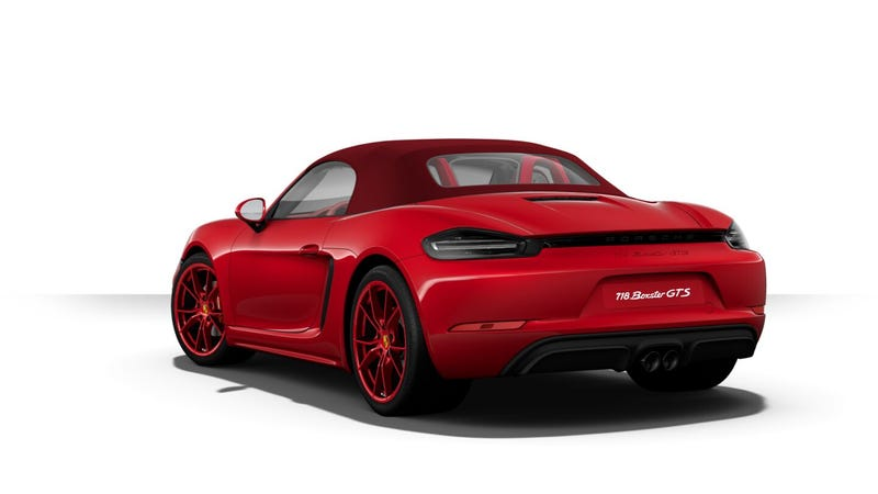 Illustration for article titled The Porsche 718 Boxster GTS Configurator Is Here For Your Most Depraved Design Combos