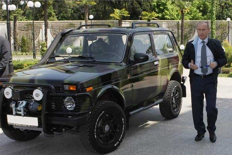 Illustration for article titled Vladimir Putin's Lada Niva Is Totally Bad-Ass