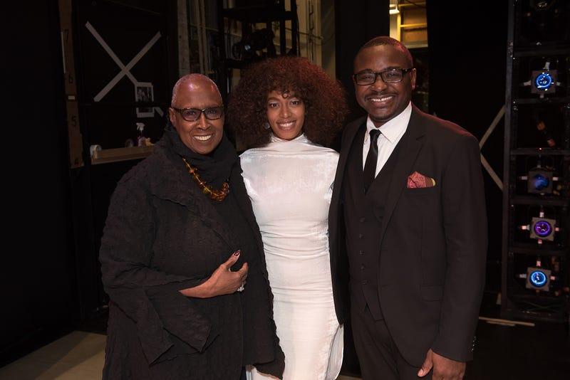 Alvin Ailey Artistic Director Emerita Judith Jamison, Honorary Chairwoman Solange Knowles and Artistic Director Robert BattleChristopher Duggan